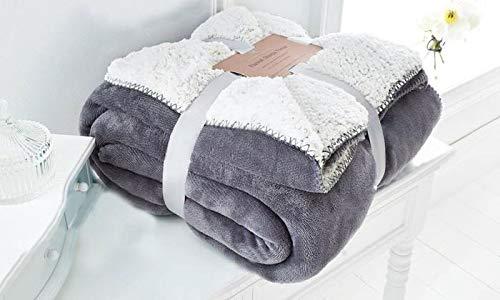 EDS Silber Weich Sherpa Schlafsofa Decke Große Abmessungen, geringes Gewicht und All Season Werfen/Decke für Bett und Couch, (Silber, groß)
