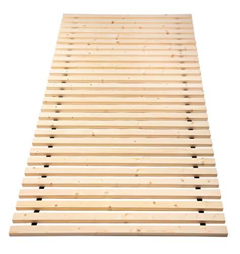 TUGA - Holztech unbehandeltes einlegefertiges reines Naturprodukt FSC - Holz 28 LEISTEN 250Kg Flächenlast in der Größe 90 x 200 cm ROLLROST Lattenrost Qualitätsarbeit gefertigt in Deutschland inkl Befestigungskit mit 5 Jahren Garantie