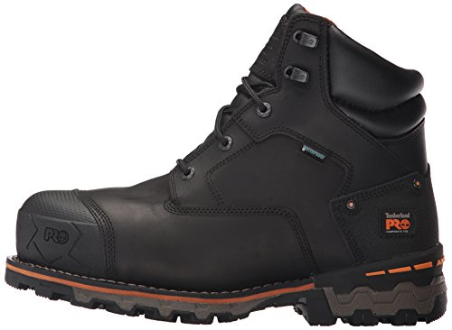"Timberland PRO Men's Boondock 6"" Composite Toe Waterproof Industrial & Construction Shoe, Black Full Grain Leather, 10.5 M US"