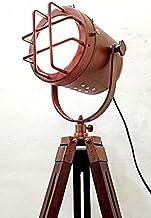 acabado de cobre antiguo de la lámpara trípode portátil de decoración ligting oficina de lámparas de piso bajo