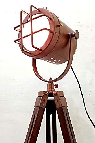 acabado de cobre antiguo de la lámpara trípode portátil d