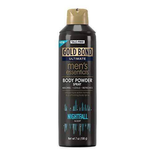 Gold Bond Men's Essentials Talc-Free Body Powder Spray 7 oz Nightfall Scent Wetness Protection