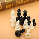 【Great quality】The set is made of quality ABS, eco-friendly, non-toxic, durable to use.Fine workmanship with sleek edges and comfortable hand feel. 【Full 32 piece set】Full set of light and dark finished chess. Pieces measure 0.67inch to 0.79inch tall...