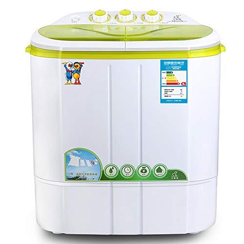 OCYE Mini Lavatrice Portatile per Biancheria compatta, capacità 6,6 libbre, Piccola Lavatrice Semi-Automatica compatta con Controllo Timer