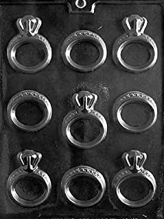 Cybrtrayd W051 Engagement/Wedding Ring Wedding Chocolate Candy Mold with Exclusive Cybrtrayd Copyrighted Chocolate Molding Instructions