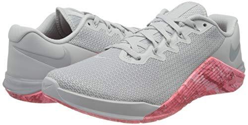 Nike Metcon 5 Women's Training Shoee Pure Platinum/Oil Grey-Imperial BLUET 6.5