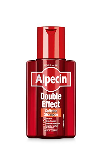 Alpecin Double Effect Caffeine Shampoo, 1 x 200 ml - Anti-roos - Vorkomt haaruitval