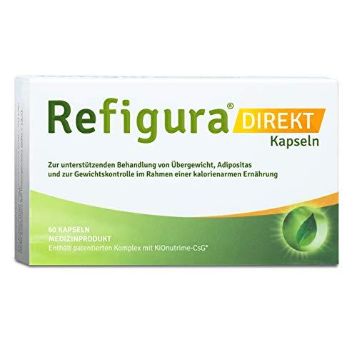 Refigura Direkt: Appetitzügler zum Abnehmen/zur Gewichtskontrolle, pflanzlich, vegan, Kapseln, 60 Stk.