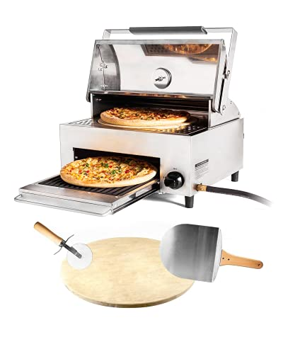 CAPT'N COOK OvenPlus Portable Gas Pizza Oven - Double Cooking Design For Crispy Crust and...