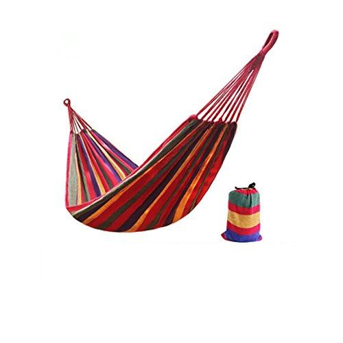 Uiophjkl Outdoor Sport rugzakken Outdoor Recreatieve Rode Gestreepte Canvas Hangmat/Kinderkamer Hangmat Kan geschikt voor de meeste dagelijkse benodigdheden