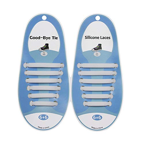 No Tei Schnürsenkel für Kinder, wasserdicht, elastisch, Silikon, ohne Schnürsenkel für Sneakers, Boardschuhe, Freizeit (Regenbogen)