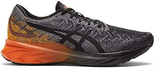 ASICS Men's Dynablast Running Shoes, 10.5, Black/Marigold Orange
