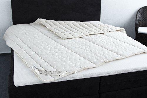 Badenia Bettcomfort Irisette Merino wash Spannauflage mit Feinperkalbezug, 160 x 200 cm