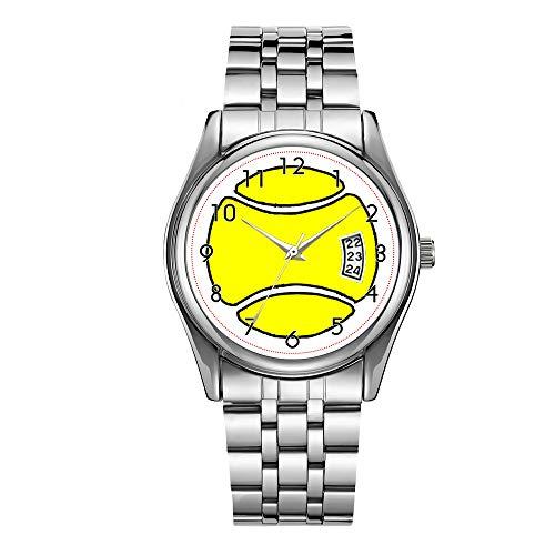 Reloj de lujo de los hombres 30m impermeable fecha reloj masculino deportes relojes hombres cuarzo casual Navidad reloj de pulsera de dibujos animados pelota de tenis reloj de pulsera