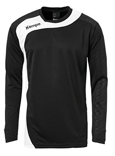 Kempa Peak Homme Shirt Manches Longues, Noir/Blanc, FR : S (Taille Fabricant : S)
