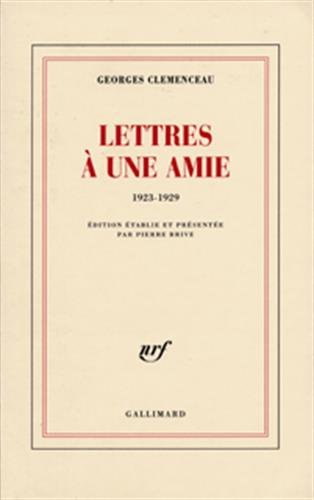 Lettres à une amie 1923-1929