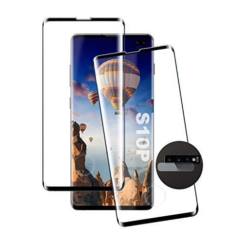 Protector Pantalla Galaxy S10 Plus, [2 Piezas] Antiarañazos, Antihuellas, Sin Burbujas, Dureza 9H, Ultra Transparente, Cristal Templado Membrana Adecuado para Samsung Galaxy S10 Plus