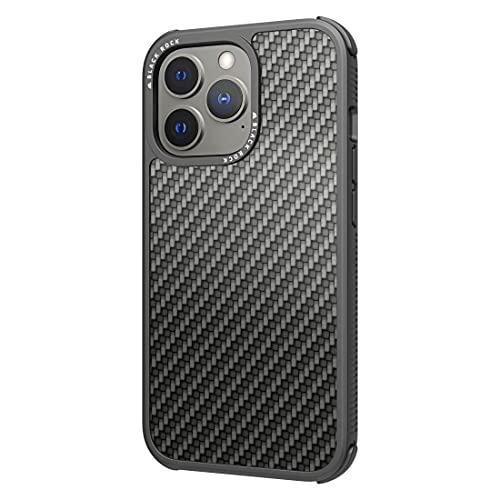Black Rock - Hülle Carbonhülle Robust Hülle Real Carbon Passend für Apple iPhone 13 Pro I Karbon Handyhülle, Fiber Cover (Carbon Schwarz)