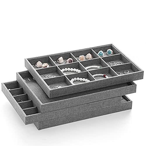 MUY Organizador de Joyas de Tela Caja de Anillo de exhibición de Joyas Collar Pendiente Titular Caja de Recuerdos para Mujeres Pascua