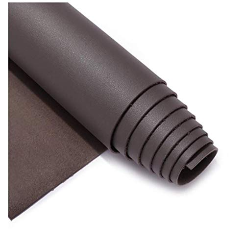 SSYBDUAN Tela de Polipiel for Tapizar Eco-Cuero Imitación d Tela de Polipiel, Fina y elástica - Tela de imitación de Cuero - PU Tejido de Piel sintética,Gris Oscuro (Size : 1.38×1m)