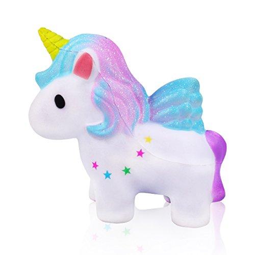 mi ji Squishy Kawaii,Squishy Unicornio,Squishy Doll de Diseño Animado Perfumada Lenta Levantar Exquisito Niño Juguete antiestrés (Galaxia)