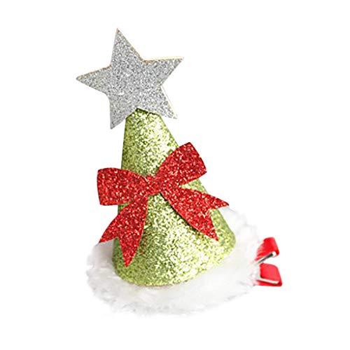 Skxinn Weihnachtsmode Kinder Haarnadel Weihnachtsmütze Haarnadel Boutique Kopfschmuck
