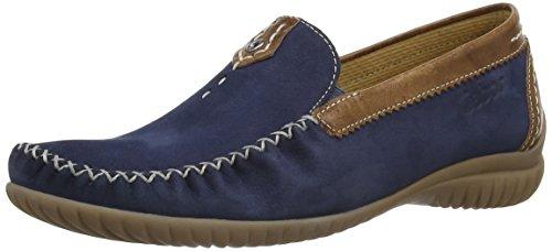Gabor 26.090.46 Damen Mokassin, Blau (Navy Blue Nubuck/Brown Leather), Gr. Eu 38 (Uk 5)
