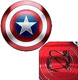 47cm Captain America Shield Hecho De Metal American Shield Cosplay Props Subsero Shield Halloween Retro Accesorios De Disfraces Decoraciones De Barras, Regalos para Niños,B