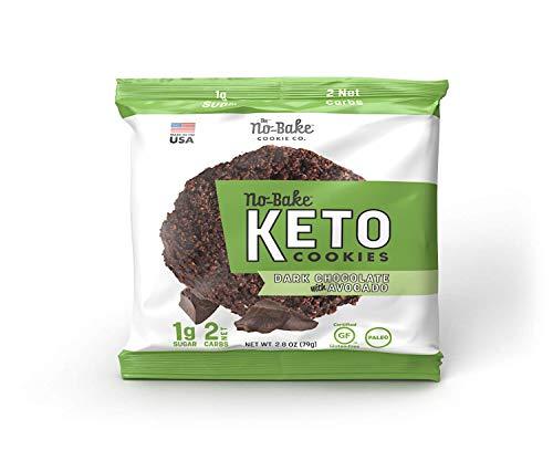 KETO Cookies - 8 Pack DARK CHOCOLATE AVOCADO Gluten Free No Bake Cookies   (8) 2.8 oz Packaged Cookies