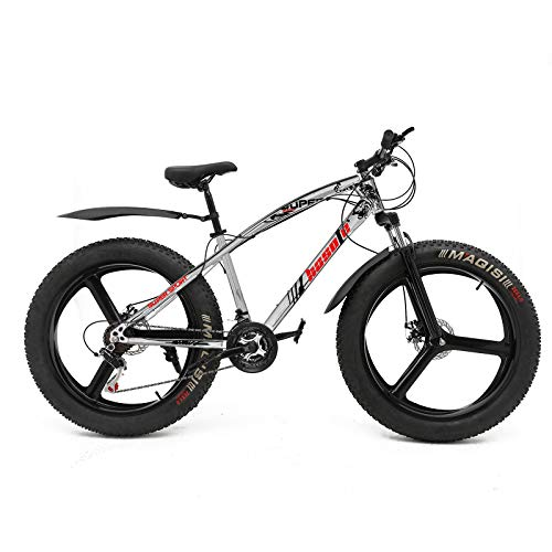 hosote Fat Tire Bike for Men, 26 Inch Shimano 21 Speed...