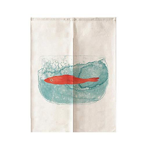 Guest Ruyunlai Noren Japanische Vorhänge Baumwolle Leinen Türvorhang Tapisseri für die Heimtextilien Raumteiler Aquarium 75 cm X 120 cm