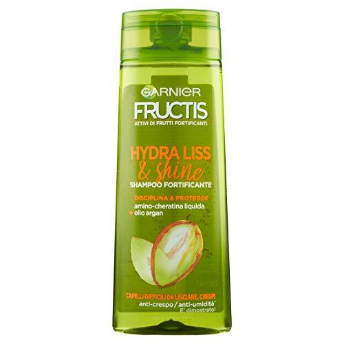 Garnier Fructis Hydra Liss Shampoo per Capelli Difficili da Lisciare, 250ml