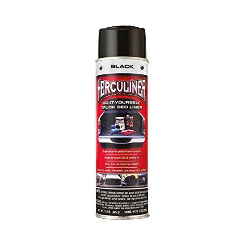 Herculiner 1,15m2 Spray schwarz Beschichtung für Ladefläche PU Laderaumbeschichtung Ladefläche Ladewanne Beschichtung Pickup Bedliner