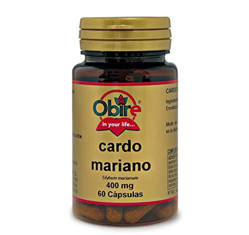 Obire | Cardo Mariano | 400 mg | Contribuye al Potencial Detoxificante del Hígado | Facilita la Digestión de las Grasas | 60 Cápsulas