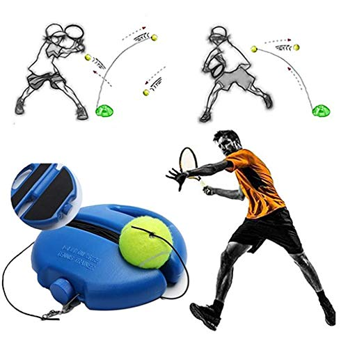 GHMEI Tennis Ball Singles Trainer, Rebound Ball, Retractable Training Practice Balls Back Base Tennis Ball String Tools, para familias y niños