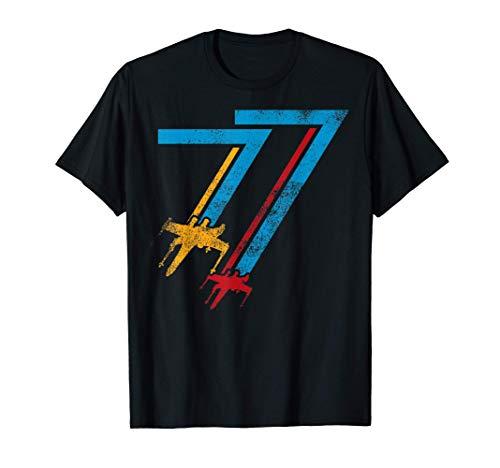 Star Wars X-Wing Zig-Zag 77 Faded Vintage Camiseta
