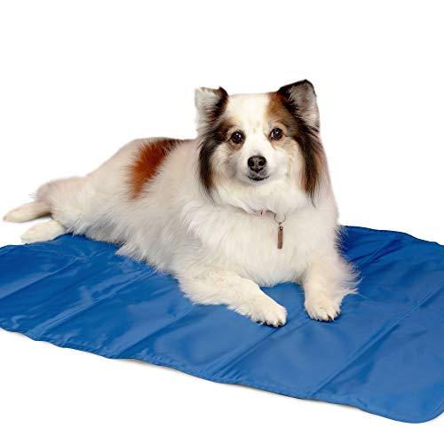 Haustier Kühlmatte von Simply Natural – Groß 90 x 60 cm selbstkühlende Matte für Hunde und Katzen – Haustiermatte mit Kühlendem Gel und Einfach Faltbarem Design Haustierkühlmatte