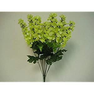 Green Delphinium Artificial Flowers Greens Leaves
