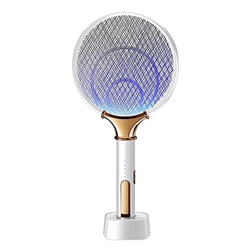 KANGDILE 2 en 1 Mosquitera eléctrica Swatter con mosquitera púrpura USB USB Recargable Anti Fly Bug Zapper para Indoor Al Aire Libre Oficina Inicio Backyard Patio Camping (Color : A)
