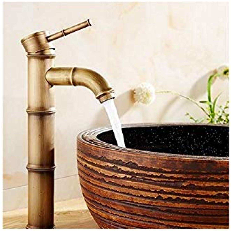 Bad Waschbecken Wasserhhne Bambus Form Hoch Antik Messing Bad Wasserhahn Einzigen Griff Einlochmontage Messing Bad Wasserhhne
