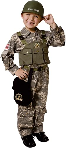 Dress-Up-America Army Costume - Soldier Costume For Boys and Girls - U.S. Special Forces Dress-Up For Kids (Medium (8-10))