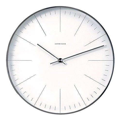 max bill Design-Wanduhr im Bauhaus-Stil | Quarz-Uhrwerk | Made in Germany | Ø 22 cm | Strich-Zifferblatt