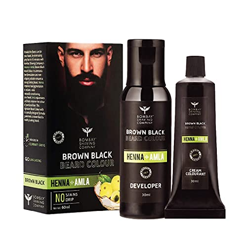 Bombay Shaving Company Beard Colour For Men (Brown Black) with Henna & Amla | Ammonia & Sulphate Free | Made in India