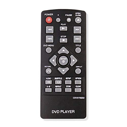 Vinabty COV31736202 Control Remoto Trajes de Copia de Reemplazo LG DP132 DP132NU Reproductor de DVD Nueva condición para LG Reproductor de DVD Control Remoto