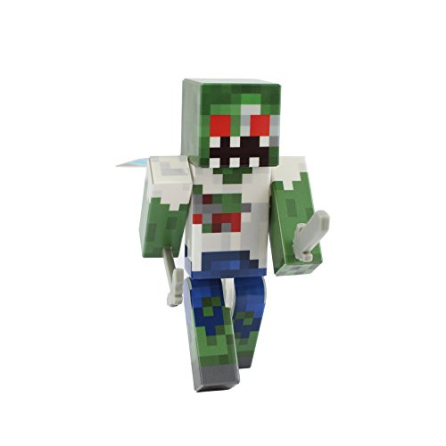 EnderToys Zombie Action Figure Toy, 4 Inch Custom Series Figurines