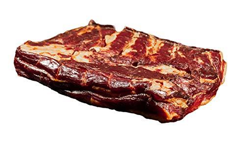 Bacon | Dörrfleisch | geräuchertes Bauchfleisch am Stück | Deutsches Landschwein aus eigener Schlachtung | 1.000g