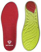 Sof Sole Insoles Women's High Arch Performance Full-Length Foam Shoe Insert, Women's 8-11
