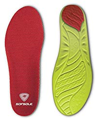powerful Arch Unisex Adult Soft Sole Insole Red Ladies 8-11 US