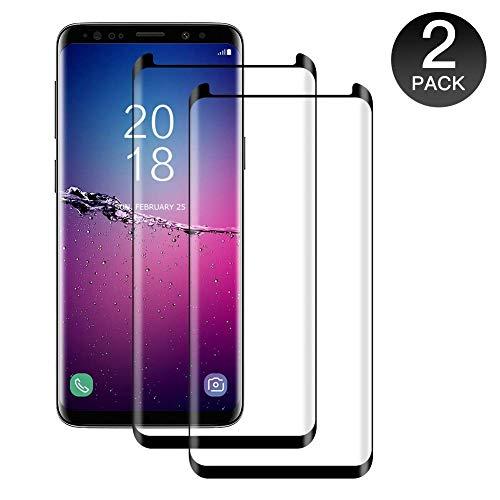 POOPHUNS 2 Pezzi Vetro Temperato Samsung Galaxy S8, Pellicola Protettiva in Vetro Temperato Screen Protector Samsung Galaxy S8, Protezione Schermo 9H Durezza, Anti-Graffio, Senza Bolle
