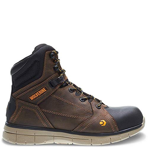 Wolverine Men's Rigger WPF Composite-Toe Mid Wedge Construction Boot, Summer Brown, 9 M US